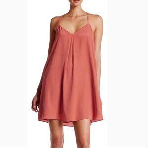 Joie coral silk dress